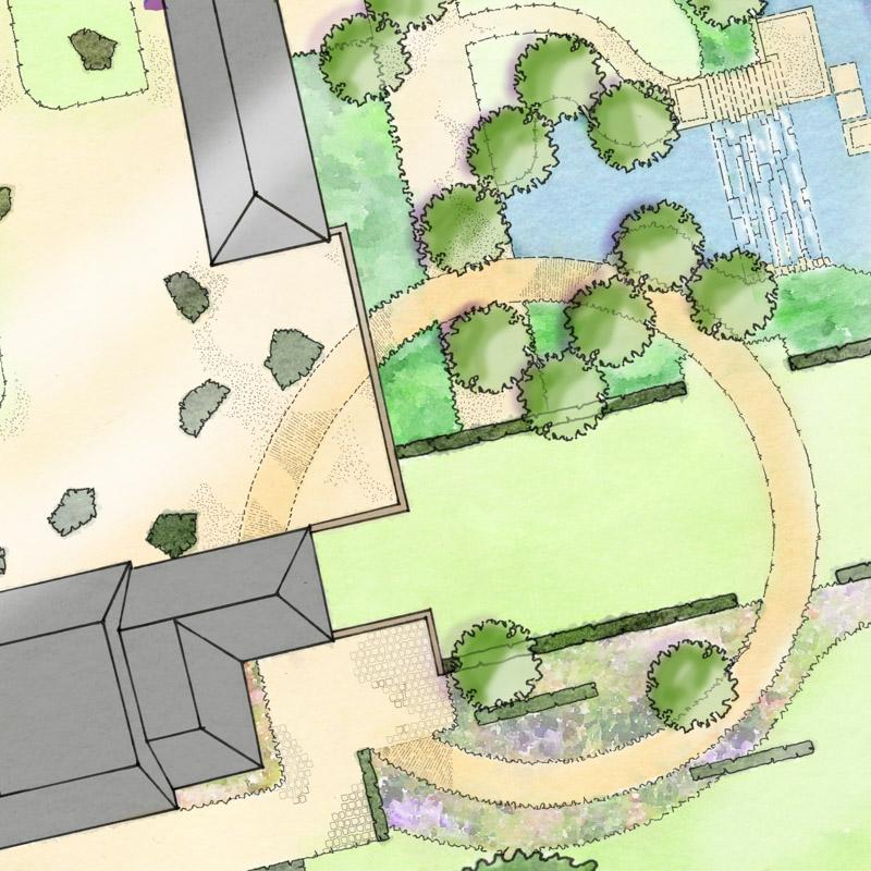 Bob Richmond-Watson Landscape and Garden Design_Country Estate Detail Plan