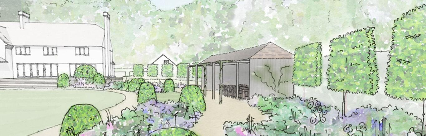 Bob Richmond-Watson Landscape and Garden Design_Haslemere_Perspective_Behives_Loggia-3 copy